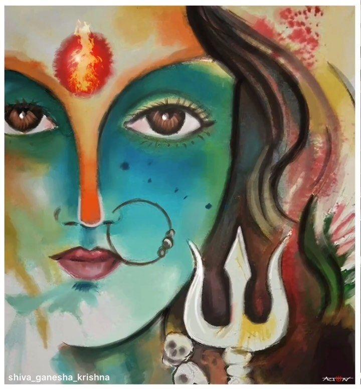 Pin By Ashvini Salunke On Paintings Lord Shiva Painting Shiva