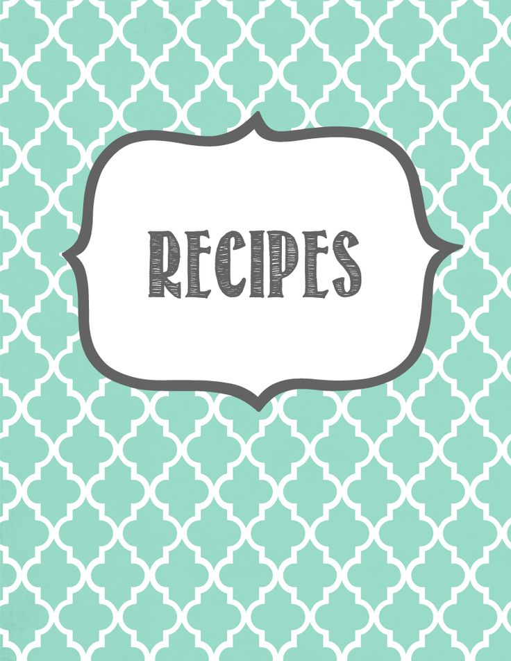 Thinking of creating a recipe binder for my own place :)