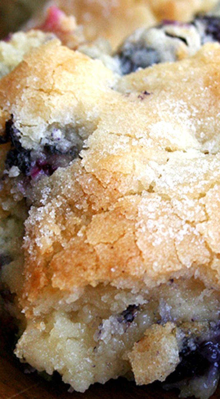 Buttermilk-Blueberry Breakfast Cake ~ This cake is delectable!... Buttermilk…