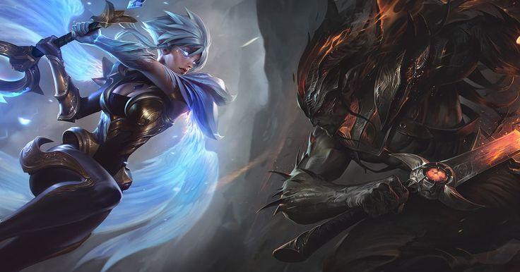 Forjad el destino con Riven guerrera del orden y Yasuo heraldo del caos completando misiones, creando símbolos y eligiendo al vencedor.