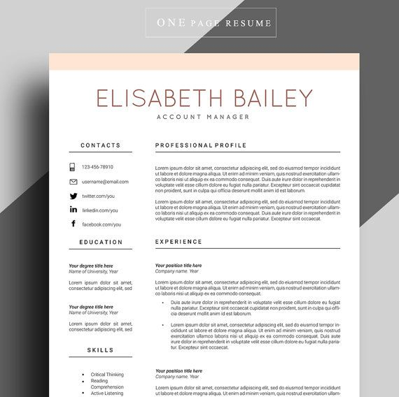 Best 25 Curriculum vitae simple ideas – Professional Resume Cv Template