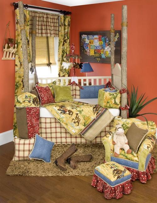 "Glenna Jean ""Cassidy & Banjo"" Old Western style crib set."