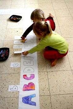 Letter/matching floor ABC activity