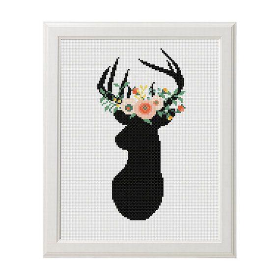 Fleurs Cross-stitch aiguille de broderie de par AnimalsCrossStitch