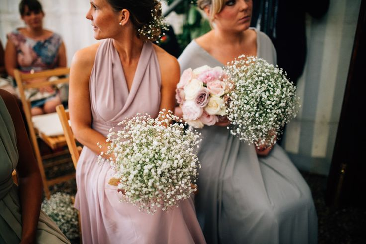 Large Gypsophila Bouquets | Baby's Breath Posies | http://www.rockmywedding.co.uk/kim-ant/ | Image By Kerry Diamond Photography