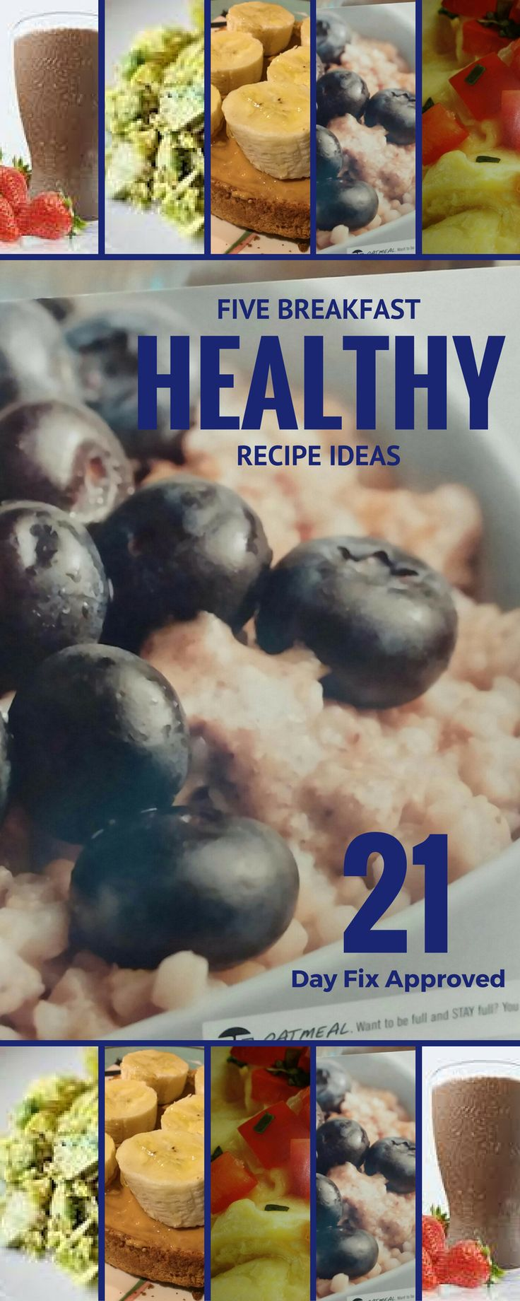 Get FIVE healthy breakfast recipes - All 21 Day Fix Approved!  Need help with your meal planning?  This is a good place to start!  Get your 5 day meal plan here!