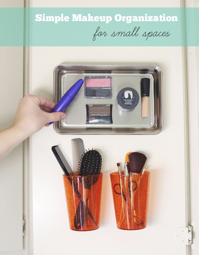 I'm Back + Simple Makeup Organization for Small Spaces
