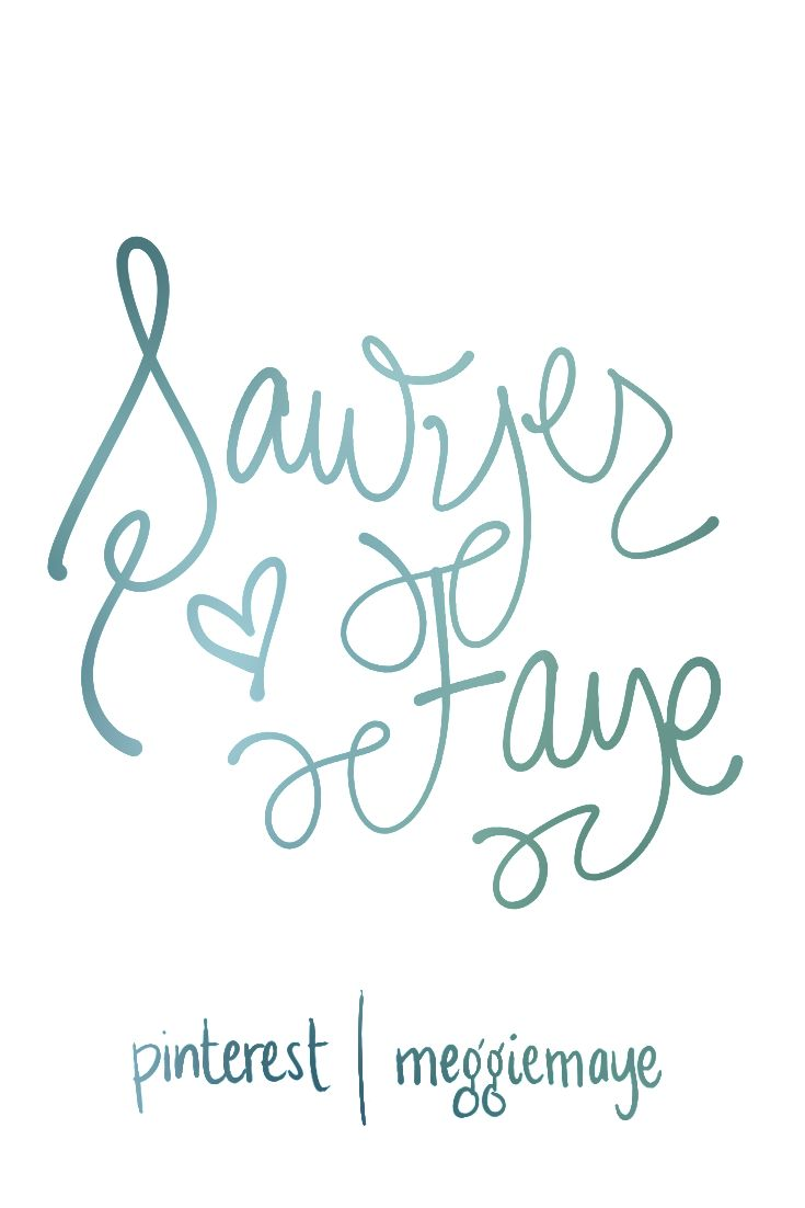 """Baby girl's name Sawyer Faye. By request. Very cool unisex surname-first name Sawyer is number 120 for boys and 446 for girls in the USA. Swanky-chic middles Fay(e), May(e), Kay(e) are all gaining steam. Faye means """"fairy"""" and is also a nickname for Faith. As a first name it is in the top 150 in Britain and the top 50 in Ireland."""