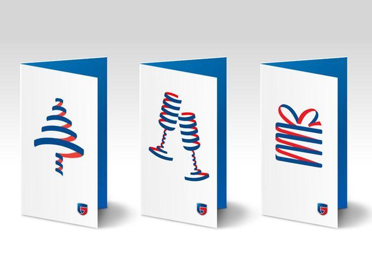 Строгие корпоративные открытки