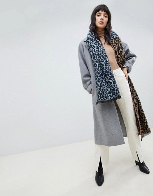 1d32eaba0 DESIGN oversized woven scarf in leopard print | New style | Fashion ...
