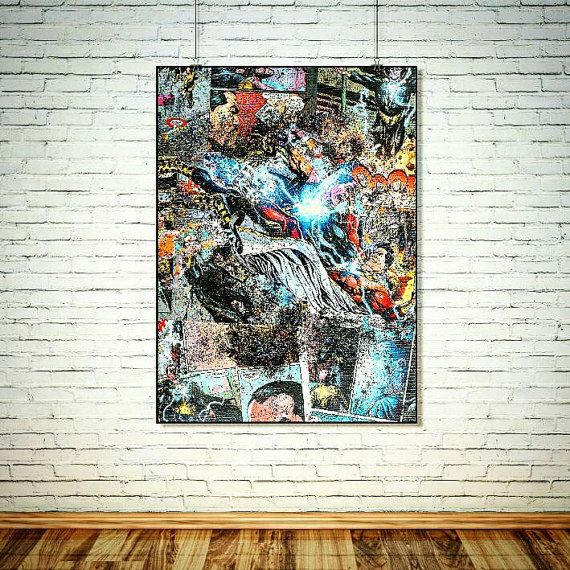 Comic Book Art / SHAZAM / Superhero Wall Art Comic Art /