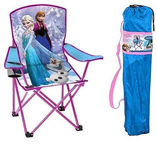 Disney Frozen Kids Folding Chair with Cup Holder and Carry Bag ** Visit the image link more details.