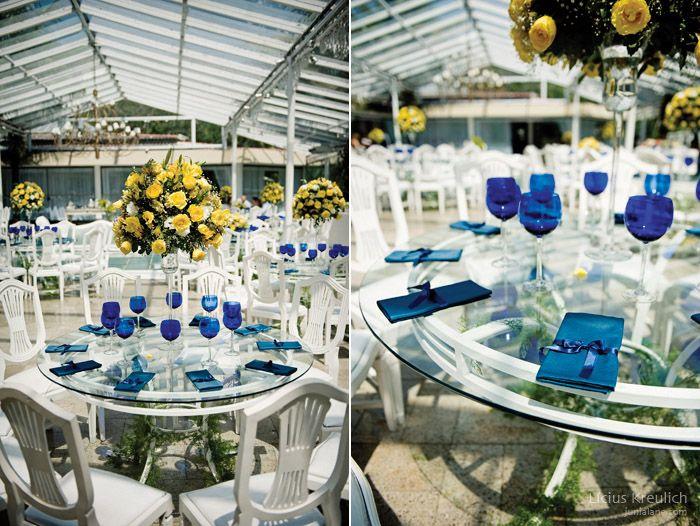 Decoração de Casamento Azul e Amarelo (06032013)  Uberlândia