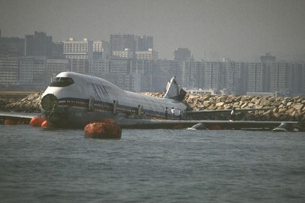 Water Landings China Airlines Flight 605 1993 Overran