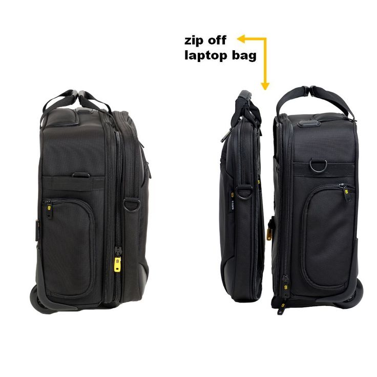 Wheeled Cabin Luggage |2-in-1 Carry On Hand Luggage Case