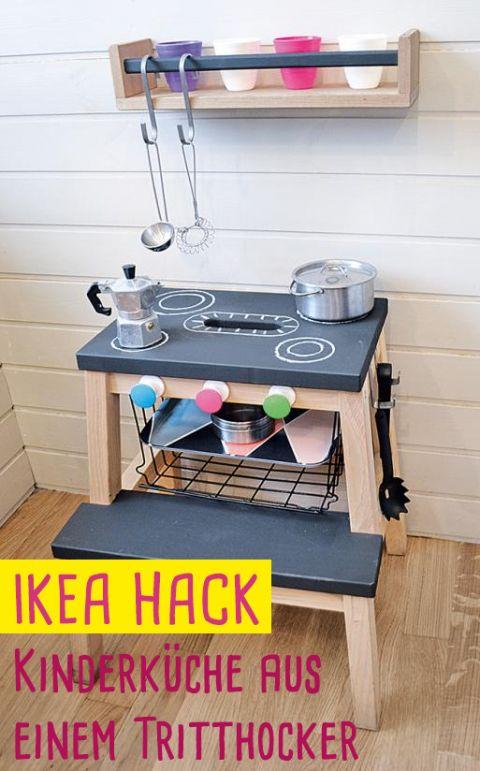 Super IKEA Hack: Küche für Kinder aus einem Tritthocker