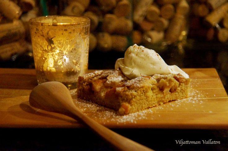 Viljattoman Vallaton: Gluteeniton Omenapiirakka