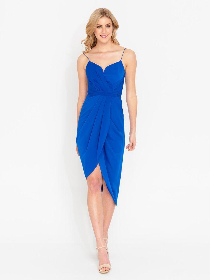 Romantic Drape Front Dress | Portmans