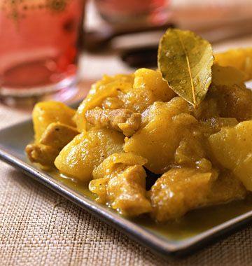 Curry de poulet aux pommes de terre - Recettes de cuisine Ôdélices