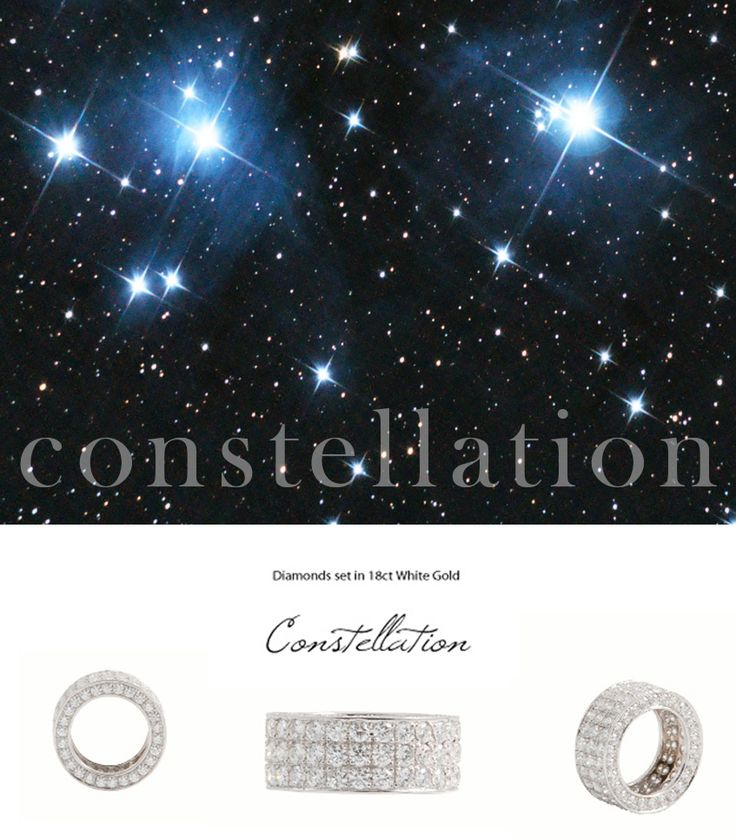 The Constellation Ring - Diamonds set in 18K White Gold