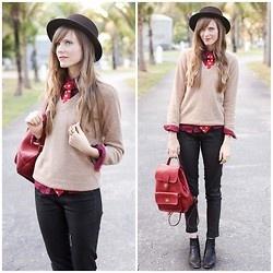 Tea And Tulips Festive Sweater, Romwe Meow Skirt, Vj Style Collar | Meow. (by Steffy Kuncman) | LOOKBOOK.nu