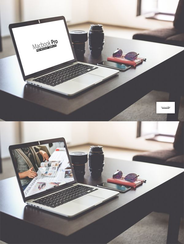 Free Macbook Pro PSD Mockup Template