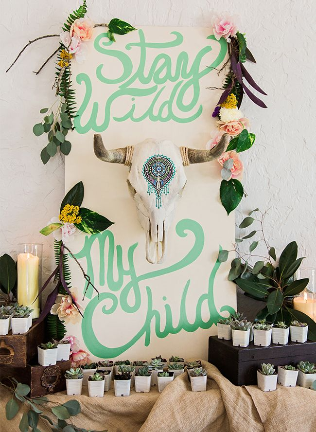 Bohemian Mint And Blue Baby Shower