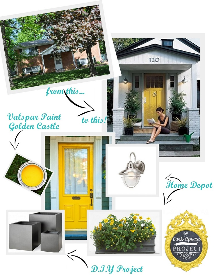 homey inspiration entry door ideas homes. Curb Appeal Inspiration Board with Yellow Front Door 15 best House images on Pinterest  Exterior homes Paint colors