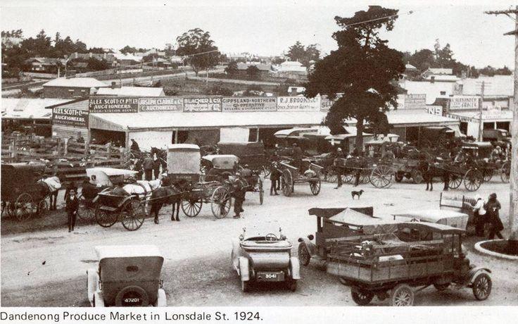 Dandenong Market 1924