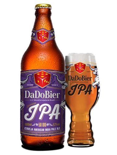 Cerveja DaDo Bier IPA, estilo American IPA, produzida por DaDo Bier, Brasil. 6.2% ABV de álcool.