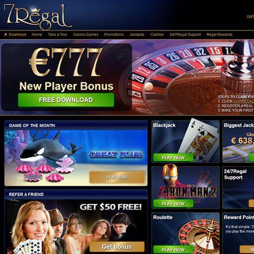 777 EUR New Player Bonus at 7Regal Casino