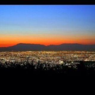 Sunset .-Santiago,Chile