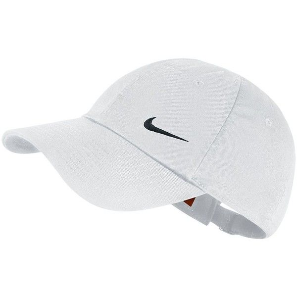Nike Heritage Performance Cap, Women's, White Black (£10) ❤ liked on Polyvore featuring accessories, hats, white black, nike, pattern hats, caps hats, black and white hat and bills hats