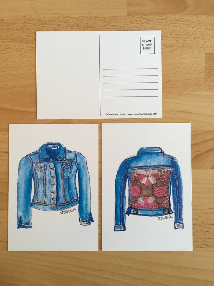 A personal favourite from my Etsy shop https://www.etsy.com/uk/listing/526736494/double-denim-limited-edition-illustrated