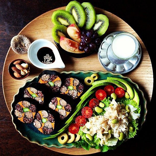 Vegan Sushi & Fruit Appetizer / Finger Plate (pic only) # ...