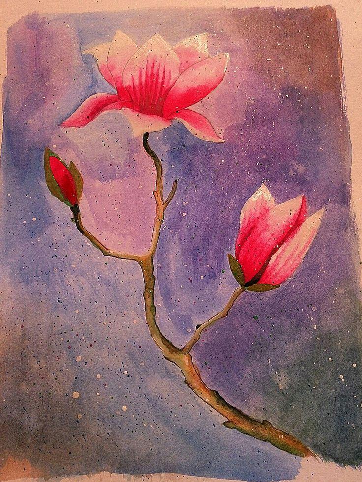 #magnolia #watercolour
