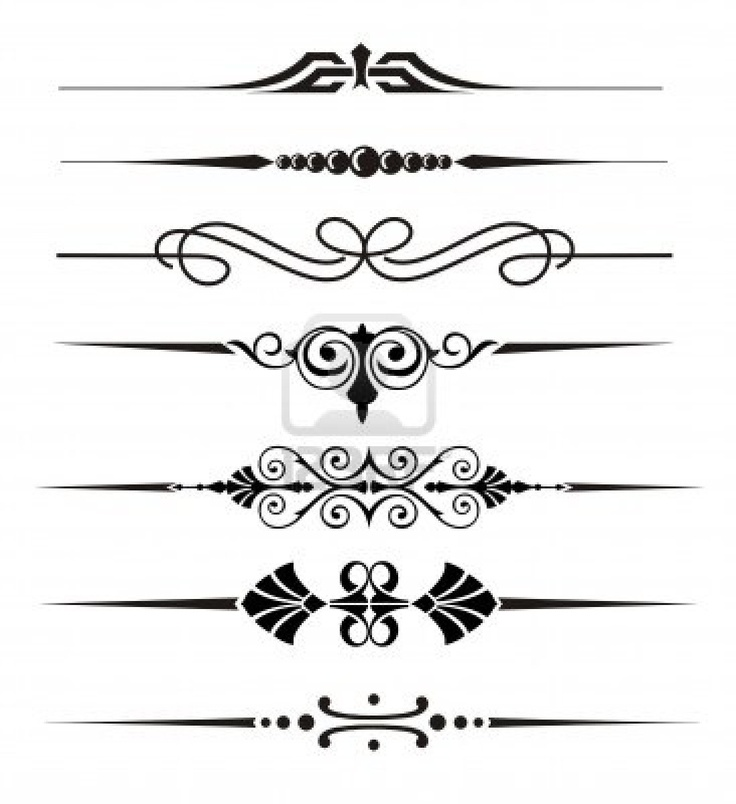 Straight Line Border Clipart : Best images about elegant ornaments on pinterest