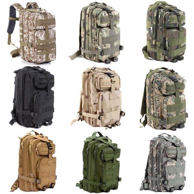 3P Hiking Camping Bag Army Military Tactical Trekking Rucksack Backpack Camo HOT #UnbrandedGeneric