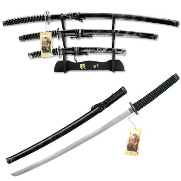 Dragon Design Japanese Katana Sword Set