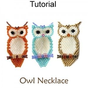 Beaded Owl Necklace Brick Stitch Beading Pattern Tutorial