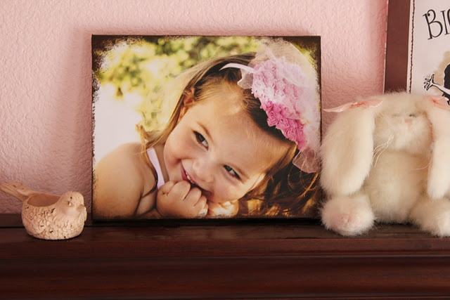 great way to do a diy canvas photo