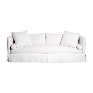Check out this item at One Kings Lane! Oliver Slipcover Sofa, White