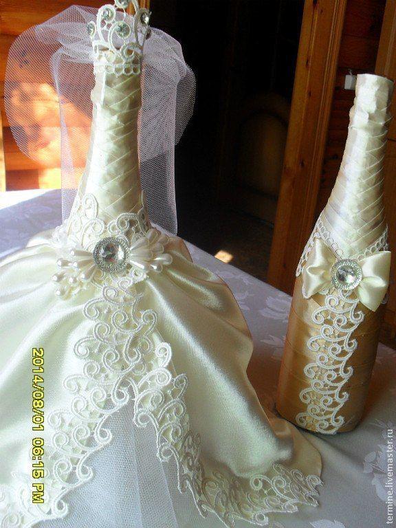 """Купить костюм для шампанского """"нежность """" - бежевый, свадьба 2015, свадебные аксессуары, свадебное украшение"""