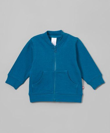 This Pagoda Blue Zip-Up Jacket - Infant & Toddler is perfect! #zulilyfinds