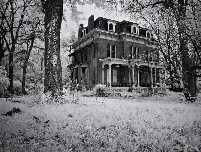 McPike Mansion was built in 1869 by Henry McPike who was the mayor. It has been abandoned since the 50's. It is being slowly restored by the owners. www.mcpikemansion.com. This house is famous for being haunted with up to 11 ghosts. Its been on several T.V. shows and been investigated by numerous paranormal groups who have found the hauntings to be authentic.