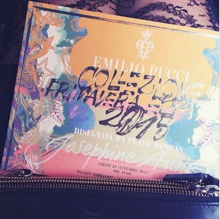 Emilio Pucci invitation SS15