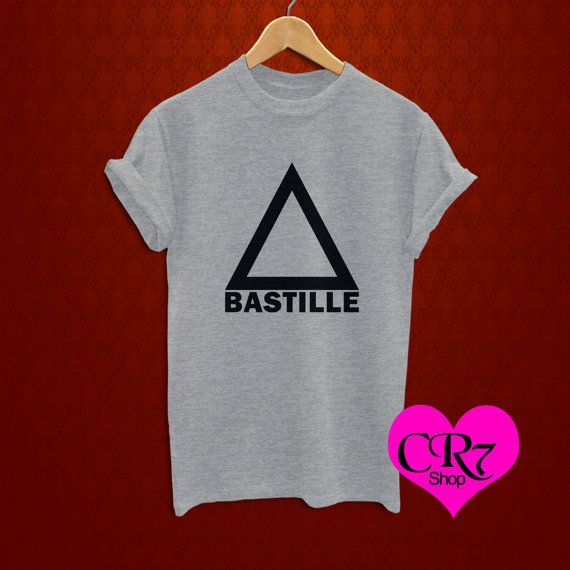 bastille shirt bastille band shirt logo sport gray by CR7shop, $17.00