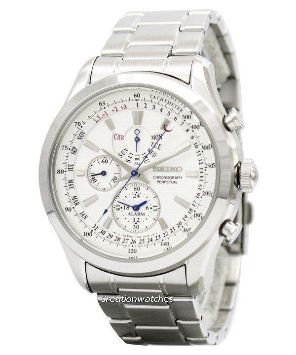 Seiko Chronograph Perpetual Spc123 Spc123p1 Spc123p Mens Watch