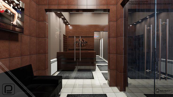 Дизайн фойе-холла фитнес центра. http://paevskiydesign.ru