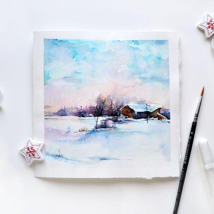 Красивые картинки, лаконичные открытки акварелью